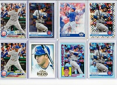 Anthony Rizzo 31 card Lot. 1 DUP 1 Relic 1 Anniversary Patch  Chicago Cubs