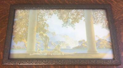 Antique DAY BREAK Small Framed Litho Print Maxfield Parrish Reinthal & Newman NY