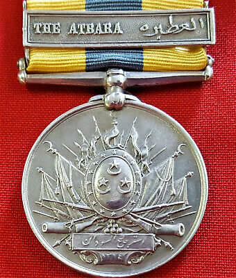 *Vintage Rare British Egyptian Army Khedive's Sudan Medal With Campaign Bar