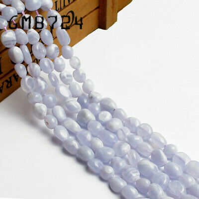 Natural Gemstone Freeform Purple Agate Beads for Jewelry Making 6-8mm 15''