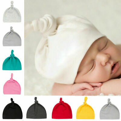 Newborn Baby Knotted Hat Infant Toddle Boys Girls Soft Cotton Cap Beanie Hat