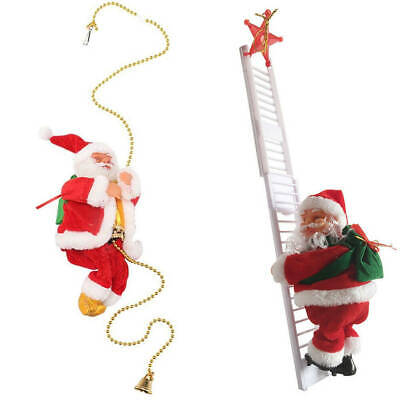 Special Singing Electric Stair Climbing Santa Claus Toy US