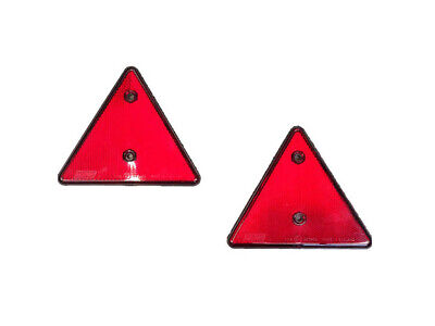 Reflective Triangle Trailer Caravan Rear Reflector For Towing Touring 2 Pack Red