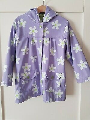 Hatley Raincoat Age 5 Girls Purple Flowers