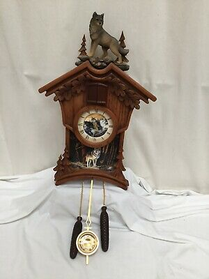 Sentinels Of The Forest Cuckoo Clock - Terry Doughty Bradford Exchange