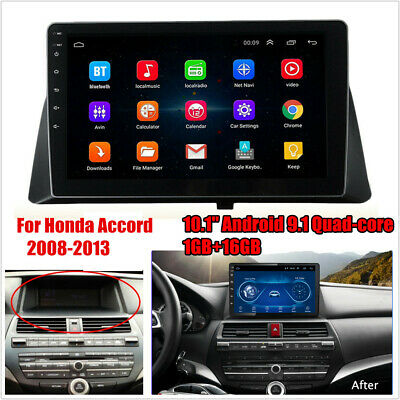 "10.1"" Android 9.1 Quad-core 1GB+16GB Car Stereo Radio For Honda Accord 2008-2012"