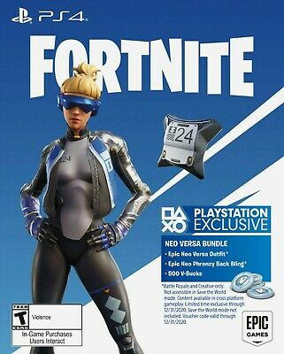Fortnite Neo Versa Bundle Pack Skin + Back Bling + V-Bucks PS4 Codice (EU)