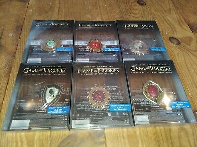 Lot 6 box avec Magnet Pour Steelbook Game of Thrones saisons 1 2 3 4 5 7