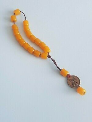 SALE! Really Old Prayer Breads amber/bakelite?   Antique Rosary Unique!