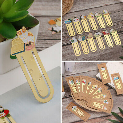 Stationery Metal Gift Gold-plated Bookmark Label Book Folder Cute Cats