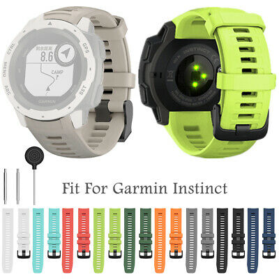 Quick Release 22mm Replacement Strap Silicone Watch Band For Garmin Instinct