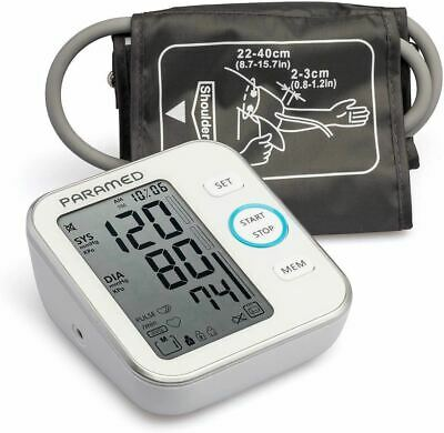 PARAMED Blood Pressure Monitor Accurate Automatic Upper Arm Bp Machine & Pulse R