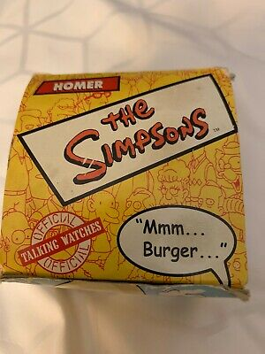 """Vintage"" Burger King Homer Simpson Collectible Watch 2002"