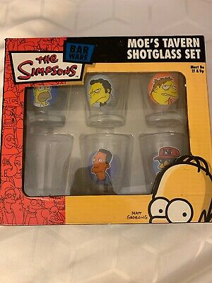 The Simpsons Moes Tavern Shot Glass Set of 6 in Box