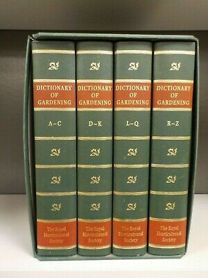 The Royal Horticultural Society - Dictionary Of Gardening - 4 Books (ID:6229)
