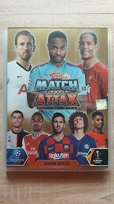 Topps-Match Attax Champions & Europa League 19/20 -303 Cards N/R Complete Binder