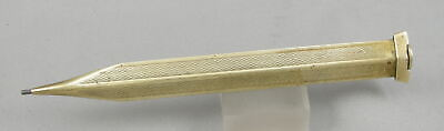 Vintage 1930's Brass Guilloche Top-Disc Twist 1.4mm Pencil - Likely Japan