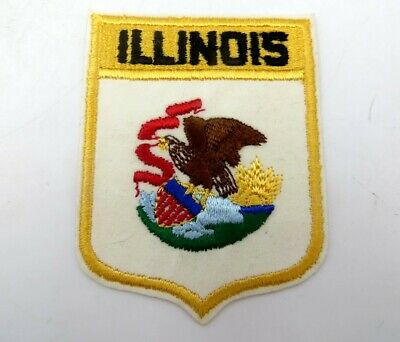 Vintage State Souvenir Embroidered Travel Patch - ILLINOIS - Never Used