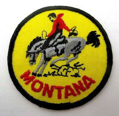 Vintage State Souvenir Embroidered Travel Patch - MONTANA - Never Used
