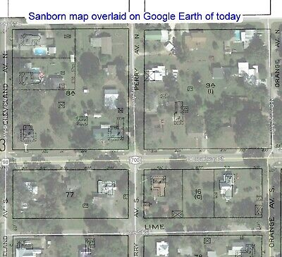 Fort Mead, Florida~Sanborn Map© sheets 1911, 1917 on a CD