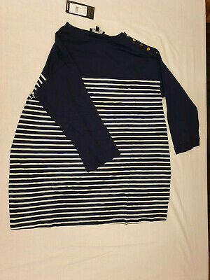 New Look Maternity  Stripe 3/4 Sleeve Top size 8