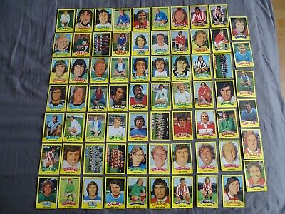 A & BC gum. 69 different 1974 FOOTBALLERS (Rub coin Back)