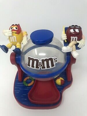 M&Ms Swimming Pool Candy Dispenser Bowl Red and Yellow Lifeguard Vintage