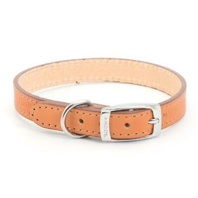 Ancol heritage Dog Puppy Leather Collar - Tan