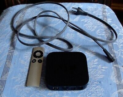 APPLE TV A1469 {Third Generation}/Power Cable/Remote EMC 2633 100-240V 5-60 Hz