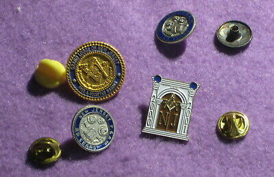 New Jersey Masonic Pin Lot Of Four