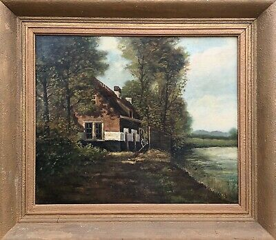 Unknown Impressionist - River Landscape with Old Kate and Builder - um 1900