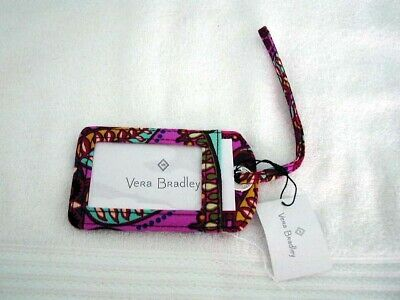 VERA BRADLEY BADGE ID or LUGGAGE TAG retired RESORT MEDALLION MINT + TAG