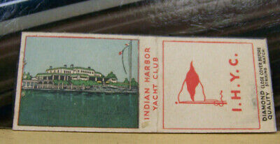 Rare Vintage Matchbook Cover Z8 Greenwich Connecticut Indian Harbor Yacht Club