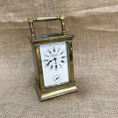 ANTIQUE ALARM CARRIAGE CLOCK - Charles Grottendieck
