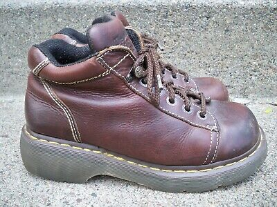 Dr. Doc Martens 5 Eye 8542 Lace to Toe Hiker Grizzly Leather Women's Boots 9 US