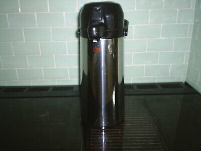 Hot + Cold Flask Vacuum Tea Coffee Jug Stainless Pump Dispenser Insulated 2L