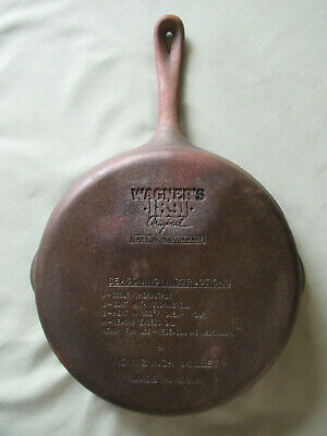 "Wagners 1891 Original Cast Iron 10 1/2"" Skillet"