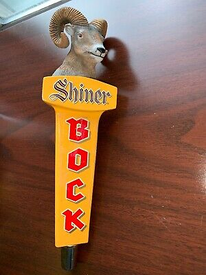 Shiner Bock Ram's Head Wooden Beer Tap Handle