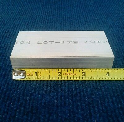 "1"" X 2"" X 4"" long new 6061 T6511 solid aluminum plate flat bar stock mill block"