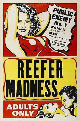 """1950's Marijuana Movie Poster """"Reefer Madness"""" Adults Only! - 20x30"""
