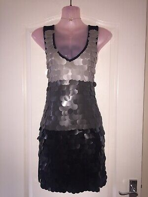 *West & West* Gorgeous Gatsby Silver Grey Sequin Mermaid Mini Dress Night Out