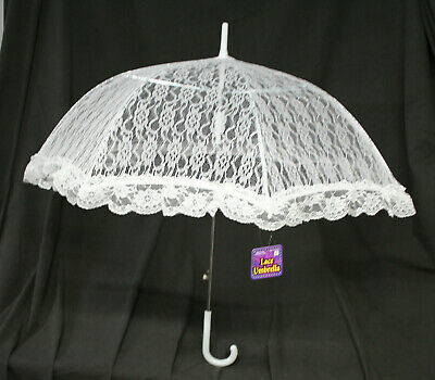 Lace Umbrella White old style costume parasol