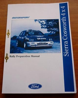 FORD COSWORTH RALLY PREP MANUAL 4 x 4 BROCHURE HANDBOOK
