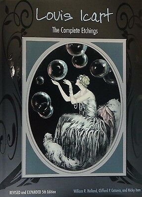 Louis Icart The Complete Etchings  book Signed and Dedicated by author mint cond
