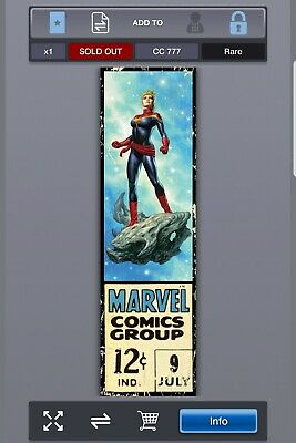 Topps Marvel Collect (Digital) Corner Box Wave 3 - CAPTAIN MARVEL /777 -SOLD OUT