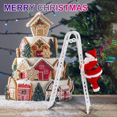 Electric Climbing Ladder Santa,Claus Xmas Party Music Figurine Decor Gift Toy!!
