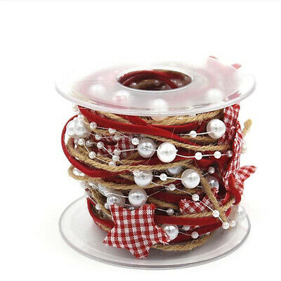 DIY Craft Party Supplies Star Chain Ribbon Gift Wrapping Christmas Tree