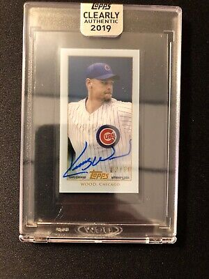 2019 Topps Clearly Authentic Kerry Wood 03/50 AUTO T206 Chicago Cubs TA-KW