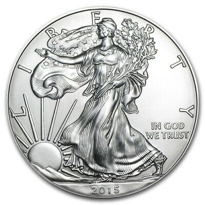 2015 1 Troy oz. Silver American Eagle Brilliant Uncirculated MintDirect Coin