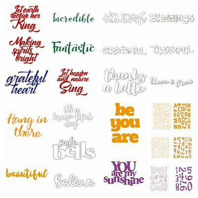 Sentiment Words Metal Cutting Dies Stencils for DIY Scrapbooking Cards Crafts